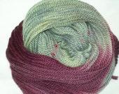 Bulky Falkland Wool Yarn 109 yards/100 grams-Wine on the Beach