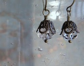 Sparkly Clear Swarovski Earrings FREE SHIPPING Special Occasion