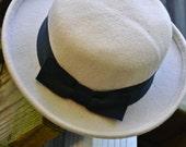 Cozy Autumn Vintage Wool Hat