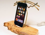 50% OFF. iPhone dock. iPod dock. Sculptural burl and brass desk art to charge and sync your iToy. THE unique gift. 34