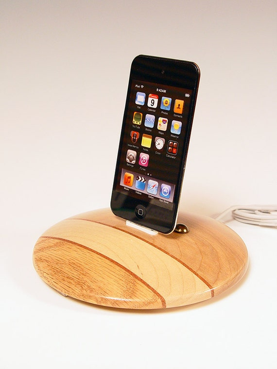 50% off sale ... iPhone dock. iPod dock. Deli cutting board style. Great gift for a chef. Culinary. Industrial. Wood. 26