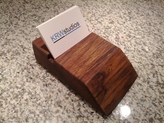 Live Edge Black Walnut Business Card Holder