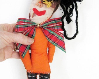 Juju Doll Nerd Bow Tie One of a Kind Handmade Wishing Doll