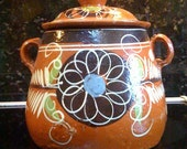 vintage Mexico mexican cookie biscuit  jar pot