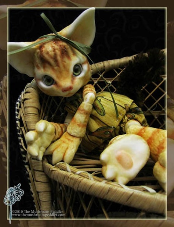 Scratch the Cat - ball joint doll / BJD -  Custom Color - Free Shipping -