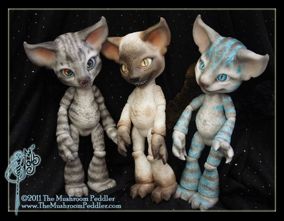 Grin the Cheshire Cat - ball joint doll BJD - Custom Color