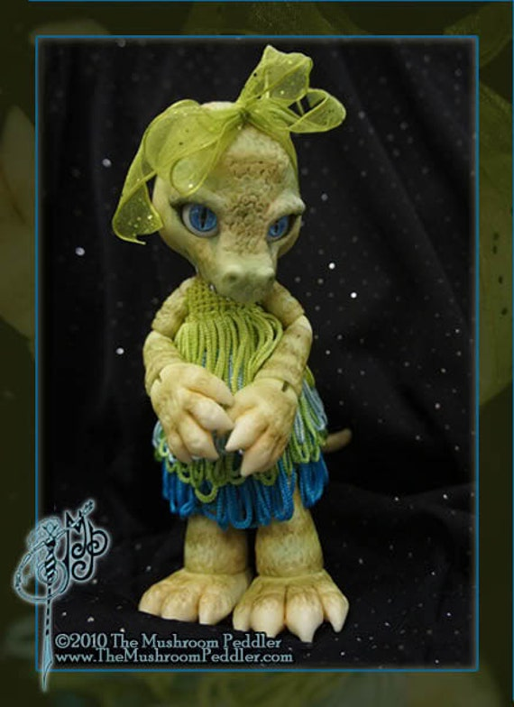 Crikey the Crocodile - ball joint doll BJD - Custom color