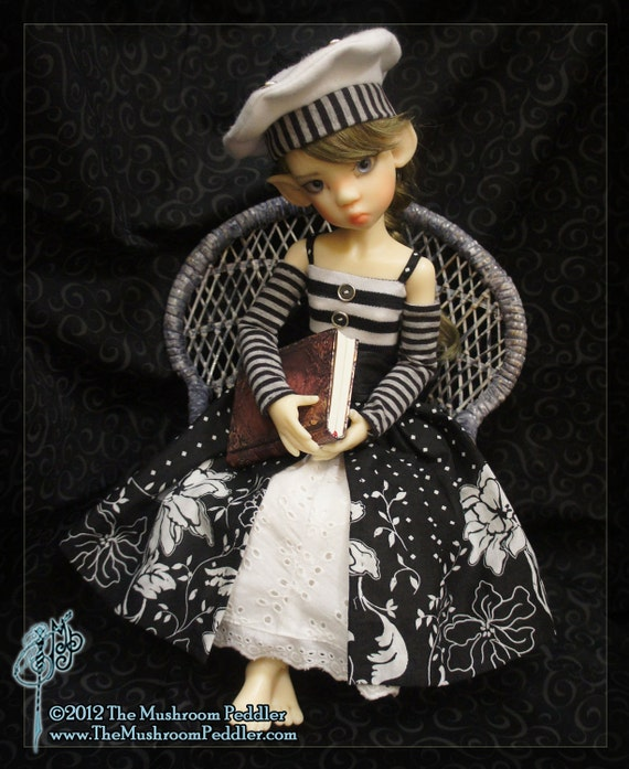 Afternoon in Paris - one of a kind outfit for Kaye Wiggs MSD BJD - Sew Wondrous Wardrobe