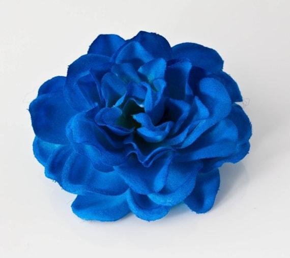 Bridal Deep blue Gardenia Hair Flower Bobby Pin / by ...