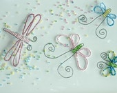 Beaded Dragonflies and Butterflies, Set of 6, Perfect for showers, weddings, and parties