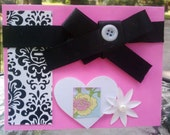 All Occasion Card - Pink and Damask