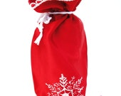 Red Satin Bottle Gift Bag for Wine or Flavored Oil