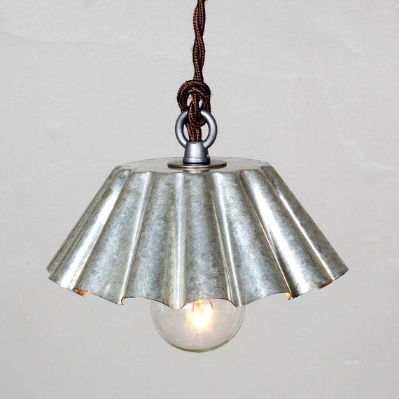 Items Similar To Rustic Light Pendant Lighting Pulley On Etsy: Items Similar To Brioche Tin Pendant Light (SM)