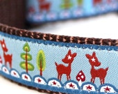 Deers and Stars Dog Collar / Forest Friends