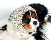 BaseBall Dog Snood / Stay-Put 3 Rows Elastic Thread / Cavalier and Cocker Long Ear Covering