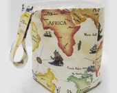 Vehicle Litter Bag - Trash Stasher - WORLD TRAVELER MAP - Car Auto Truck Rv Mini Van Trash Container