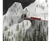 8 x 10 The Longest Train Ride to Zermatt ll