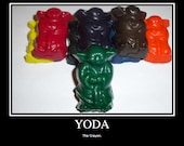 8 Yoda Crayons. Cool. Star Wars. Fun. May The Force of the Crayon Always Be With You.