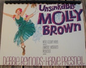 Vintage 1960s Debbie Reynolds The Unsinkable Molly Brown Soundtrack Record Album Recycled / Upcycled LP Cover Blank Comb-Bound Journal