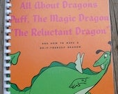 Vintage 1960s Walt Disney's All About Dragons Record Album Recycled / Upcycled LP Cover Blank Comb-Bound Journal