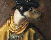 Renaissance Dog Portrait - Baron von Flapenheimer - 8x10