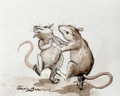 """Mouse Art - """"So dance or sing, or do anything"""" - Original Sketch"""