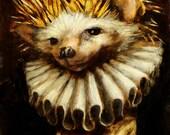 "Hedgehog - Fine Oil Painting - ""Jan Lievens"""