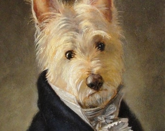 Westie Dog Art - Mr. Darcy- Photo Print 8x10