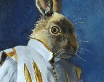 Rabbit Art - De Ruyter -Print 5x7