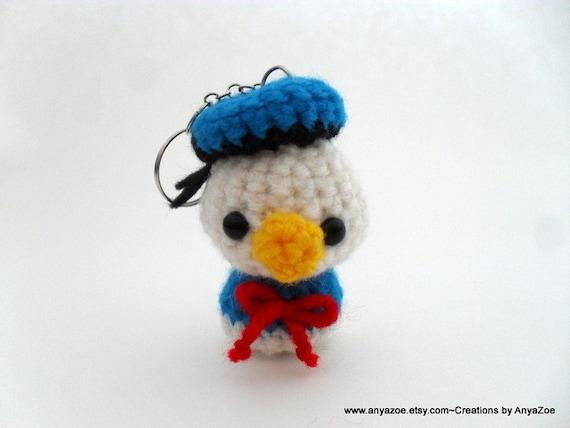 Donald Duck Amigurumi Keychain by AnyaZoe on Etsy