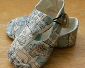 Baby Boy Shoes Sage Green Map Print Loafers