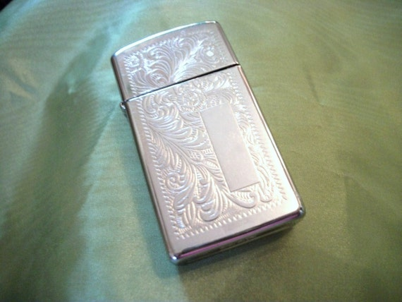 TREASURY ITEM - Light My Fire..Beautiful Vintage ZIPPO Silver Lighter