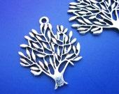 10 pcs 30x25mm Nickel Free Filigree Antique Silver Peace Tree Charm/Pendant