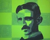 Nikola Tesla - Original painting on Canvas
