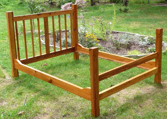 Heartpine double bed