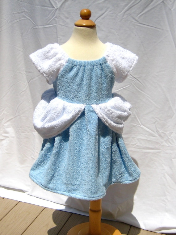 Cinderella Inspired Princess Beach Cover Up , Custom Made Boutique Outfit Girls Size 1T - 6