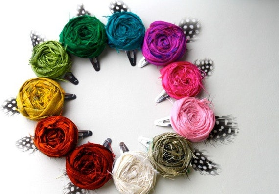 rosette hair clips you choose the color reserved for sharon