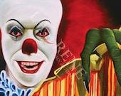 8x10 Pennywise the Dancing Clown Classic Horror Original Art Signed Print