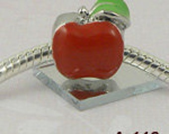 Apple - European big hole charm