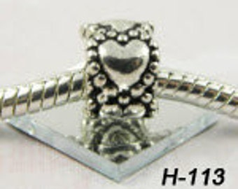 CLEARANCE - Circle of hearts- European Big Hole Charm