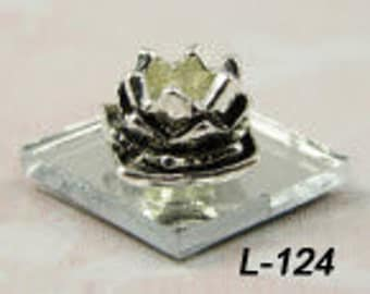 CLEARANCE - Lotus flower or Lily pad  - European Big Hole Charm