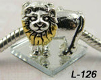 Lion, Leo - European Big Hole Charm