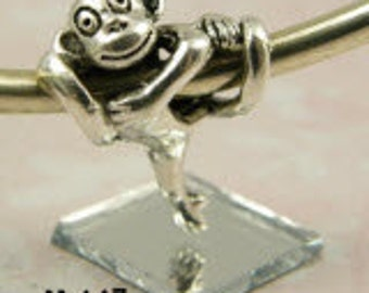 Monkey - European Big Hole Charm