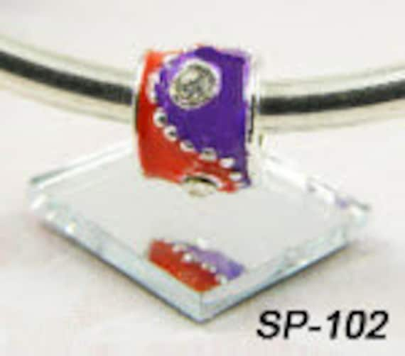 CLEARANCE - Spacer Charm - Red and Purple Barrel - European Big Hole