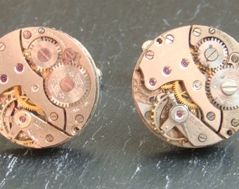 7 Pairs of  Watch Movement cufflinks, ideal gift for the groomsmen and ushers at a wedding