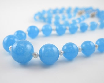 BELLE: Flapper Necklace- A rare beauty in blue jade