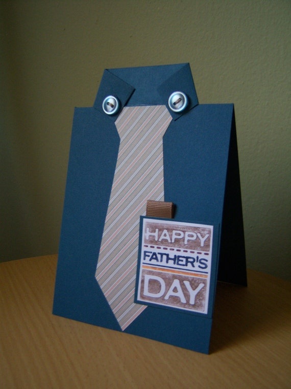 Father's Day Shirt and Tie Card by StyleDealDiva on Etsy