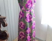 Sale was 31 eur /  Vintage 1960s Multicolor Maxi Dress