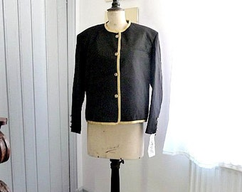 SALE WAS 20 Euros / Vintage 1980s KAMAE Black Jacket