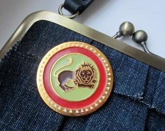 Vintage USSR pin, LION